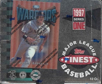 1997 Topps Finest Series 1 Baseball Jumbo Box