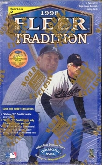 1998 Fleer Tradition Series 2 Baseball Hobby Box