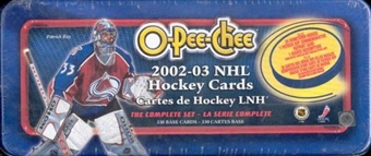 2002/03 O-Pee-Chee Hockey Factory Set (Box)
