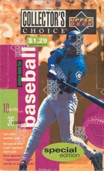 1995 Upper Deck Collector's Choice Special Edition Baseball Prepriced Box