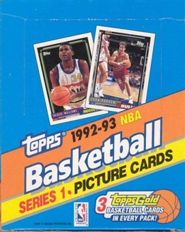 1992/93 Topps Series 1 Basketball Rack Box