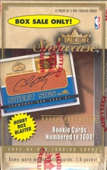 2003/04 Fleer Showcase Basketball 6 Pack Box