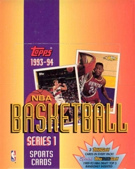 1993/94 Topps Series 1 Basketball Rack Box