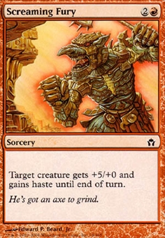 Magic the Gathering Fifth Dawn Single Screaming Fury Foil