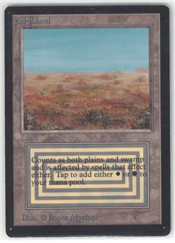 Magic the Gathering Beta Single Scrubland - NEAR MINT / SLIGHT PLAY (NM/SP)