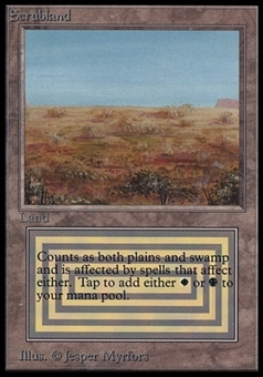 Magic the Gathering Beta International Collector's Edition Single Scrubland (NEAR MINT)