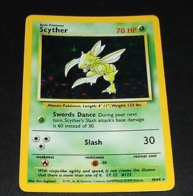 Pokemon Jungle Single Scyther 10/64 ERROR -NO SET LOGO