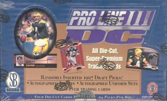 1997 Pro Line DC3 Football Hobby Box