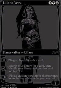 Magic the Gathering Promo Single Liliana Vess 2014 SDCC Black Variant - NEAR MINT (NM)