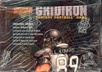 1995 Upper Deck Gridiron Fantasy Football Booster Box