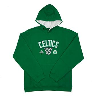 Boston Celtics Adidas Green Playbook Fleece Hoodie (Adult M)