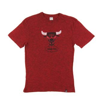 Chicago Bulls Majestic Heather Red Hours and Hours Dual Blend Tee Shirt (Adult M)