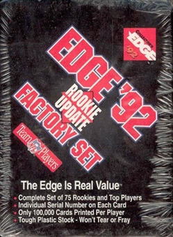1992 Collector's Edge Rookie Update Football Factory Set