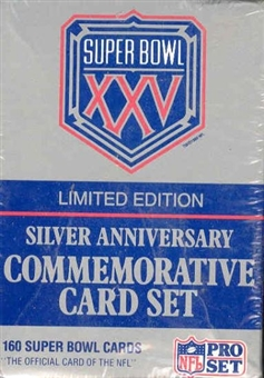 1991 Pro Set Super Bowl XXV Silver Anniversary Football Set
