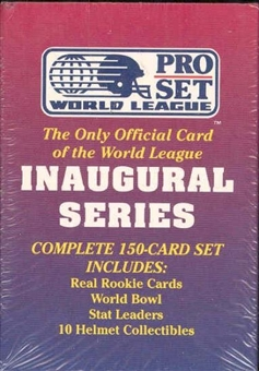 1990 Pro Set World League Football Factory Set