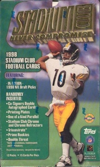 1998 Topps Stadium Club Football Jumbo Box