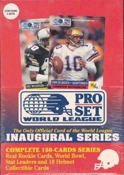 1990 Pro Set World League Football Wax Box