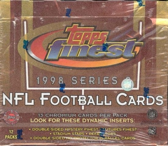 1998 Topps Finest Series 2 Football Jumbo Box