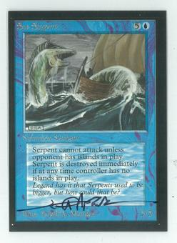 Magic the Gathering Beta Artist Proof Sea Serpent - SIGNED BY JEFF A. MENGES