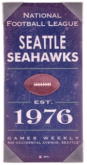 Seattle Seahawks Vintage Sign Artissimo 10x22 Canvas