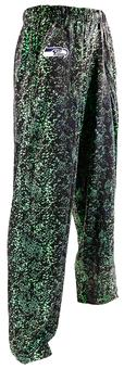 Seattle Seahawks Zubaz Neon Green and Navy Post Print Pants