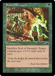 Magic the Gathering Nemesis Single Seal of Strength Foil