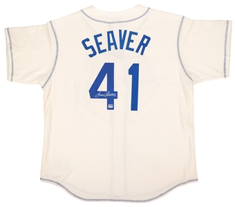 Tom Seaver Autographed New York Mets Majestic Cooperstown Jersey (PSA)