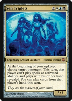 Magic the Gathering Alara Reborn Single Sen Triplets FOIL NEAR MINT (NM)