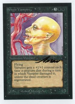 Magic the Gathering Beta Artist Proof Sengir Vampire - SIGNED BY ANSON MADDOCKS