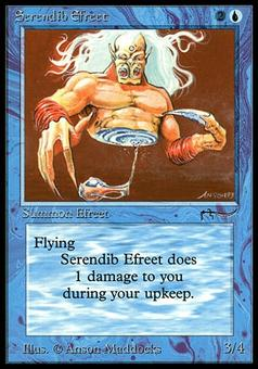 Magic the Gathering Arabian Nights Single Serendib Efreet - MODERATE PLAY (MP)