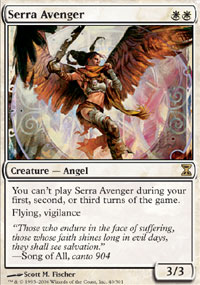 Magic the Gathering Time Spiral Single Serra Avenger - NEAR MINT (NM)