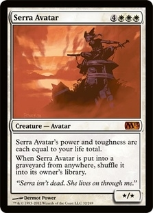 Magic the Gathering 2013 Single Serra Avatar - NEAR MINT (NM)