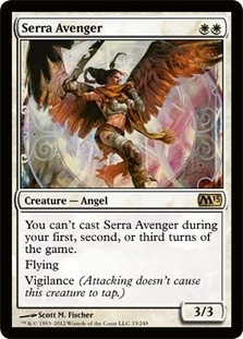 Magic the Gathering 2013 Single Serra Avenger Foil