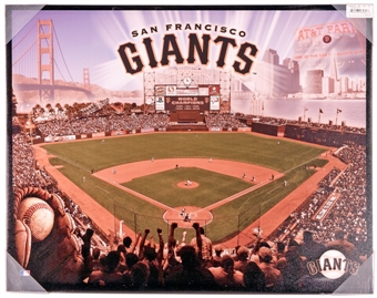 San Francisco Giants Artissimo Glory AT&T Park Stadium 22x28 Canvas