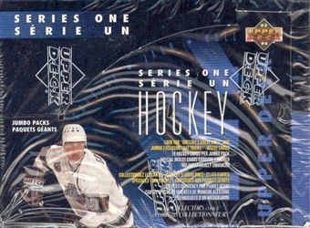 1993/94 Upper Deck Bi-Lingual Series 1 Hockey Jumbo Box