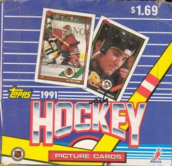 1991/92 Topps Hockey Jumbo Box