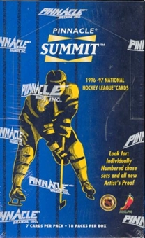 1996/97 Pinnacle Summit Hockey Box