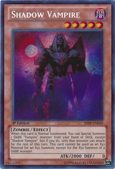 Yu-Gi-Oh Shadow Specters 1st Edition Single Shadow Vampire Secret Rare - Near Mint (NM)