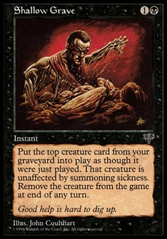 Magic the Gathering Mirage Single Shallow Grave - SLIGHT PLAY (SP)