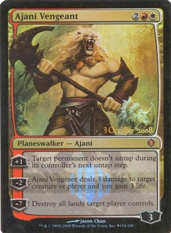 Magic the Gathering Shards of Alara Single Ajani Vengeant Foil (Prerelease)