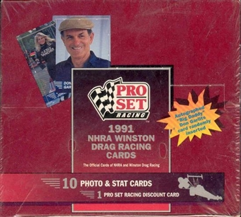1991 Pro Set NHRA Winston Drag Racing Hobby Box