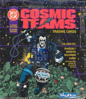DC Cosmic Teams Wax Box (1993 Skybox)
