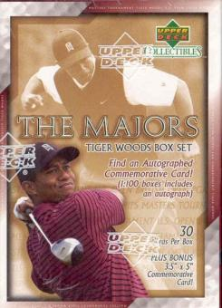 2002 Upper Deck Tiger Woods - The Majors Golf Box Set