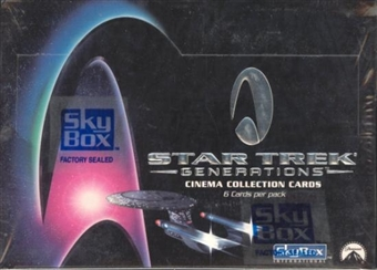 Star Trek Generations Cinema Collection Hobby Box (1994 Skybox)