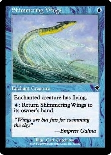 Magic the Gathering Invasion Single Shimmering Wings Foil