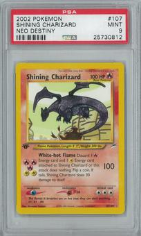 Pokemon Neo Destiny 1st Edition Shining Charizard 107/105 Holo Rare PSA 9
