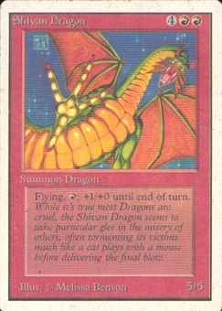 Magic the Gathering Unlimited Single Shivan Dragon MODERATE PLAY (VG/EX)