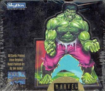 Marvel Masterpieces Hobby Box (Joe Jusko) (1992 Skybox)