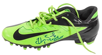 """Hope Solo Autographed Team USA Olympic Nike Cleat w/""""2X Gold Medalist"""" Inscript. (JSA)"""