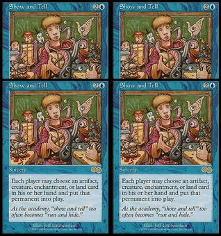 Magic the Gathering Urza's Saga PLAYSET Show and Tell - NEAR MINT (NM)